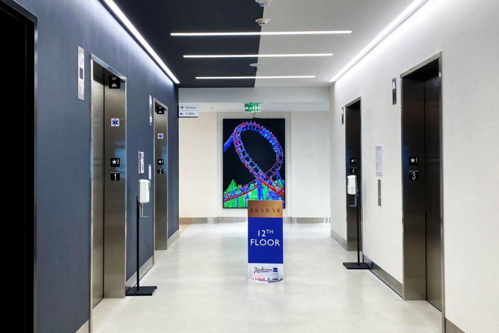 Radisson Blu Anaheim - Elevator Lobby Star Wars Dark and Light Sides