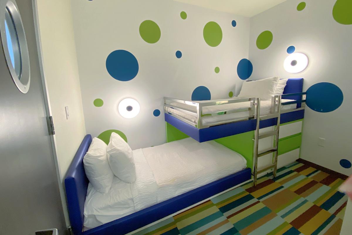Kids suite bunk room at Residence Inn Anaheim Resort Convention Center