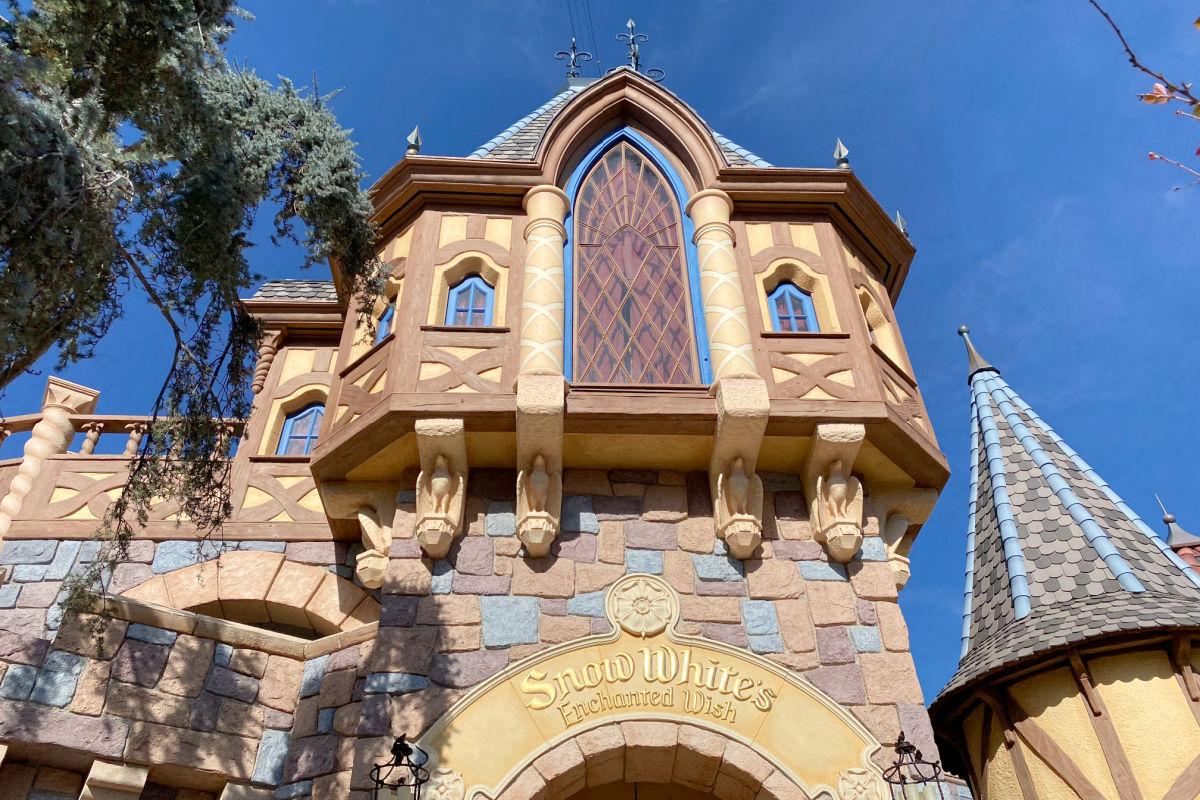 Snow White's Enchanted Wish Entrance at Disneyland
