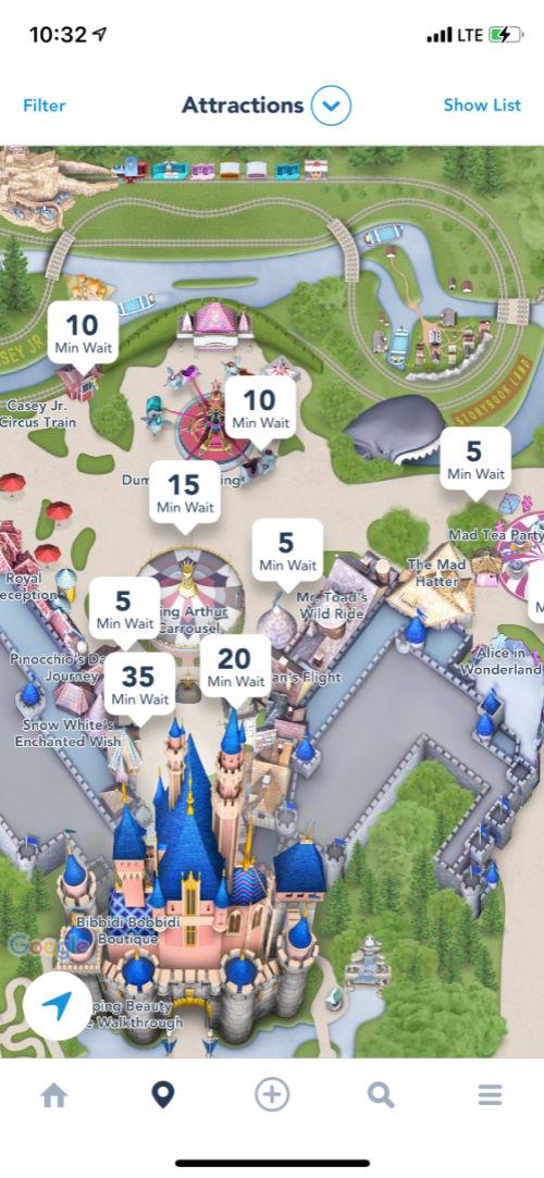 App wait times on Disneyland opening morning April 30 2021