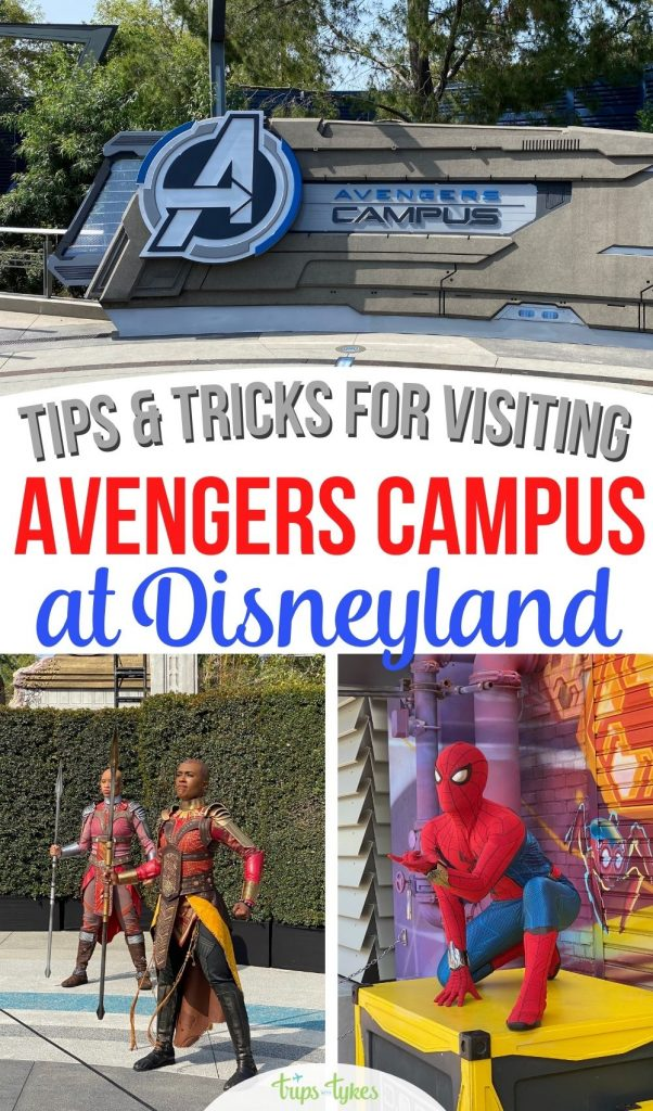 Visiting the brand new Avengers Campus in Disney California Adventure park? Get tips for the new attraction WEB SLINGERS: A Spider-Man Adventure, learn how to meet your favorite Marvel characters from the movies, and scope out Super Hero food and merchandise.