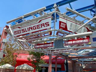 WEB SLINGERS: A Spider-Man Adventure Ride Entrance in Avengers Campus