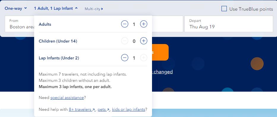 JetBlue Book Lap Infant Online Screenshot