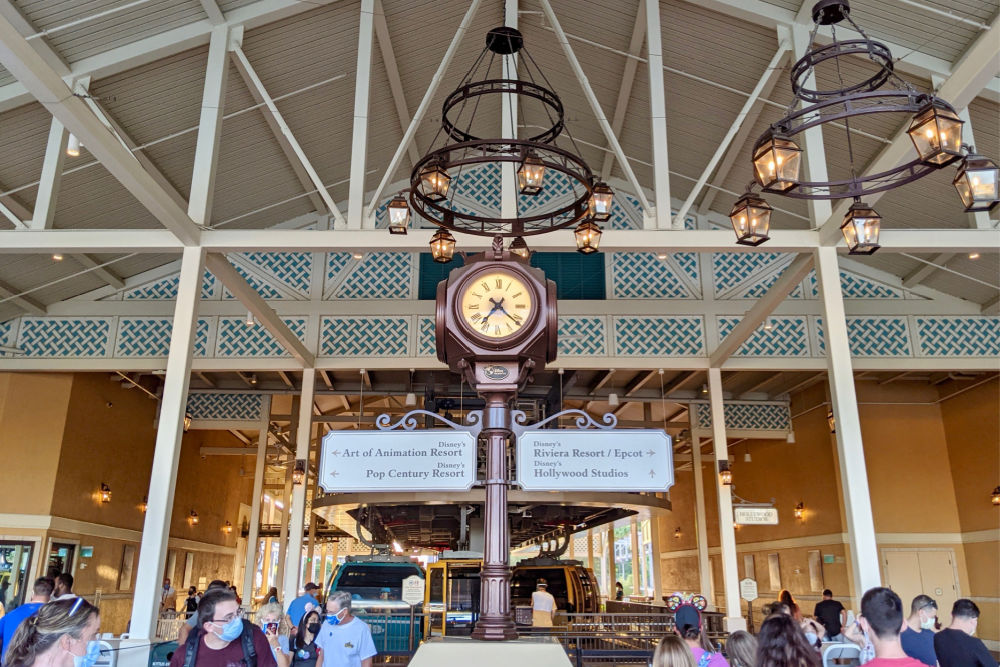 Disney Skyliner Caribbean Beach Resort Main Station