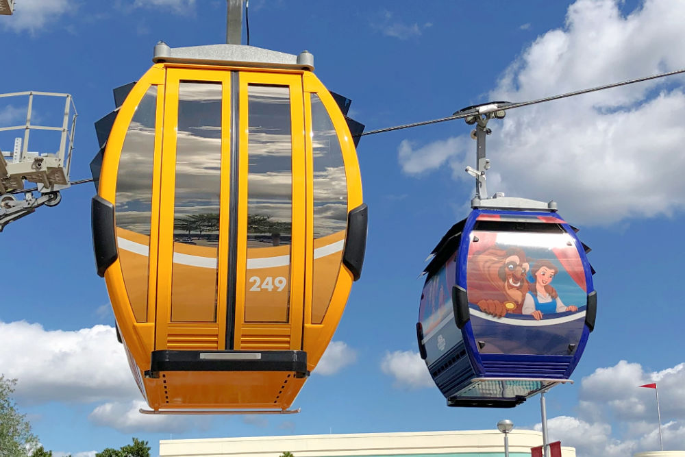 Disney Skyliner Regular and Wrapped Character Cars