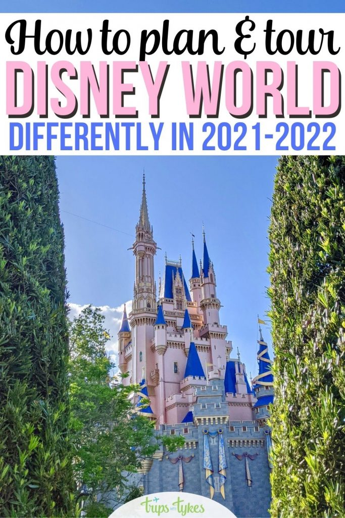 Visiting Walt Disney World during the 50th Anniversary? Touring and planning in 2021-2022 for Disney world vacations has changed a lot. New strategies for dining reservations, line skipping secrets (including Disney Genie and virtual queues), and more.