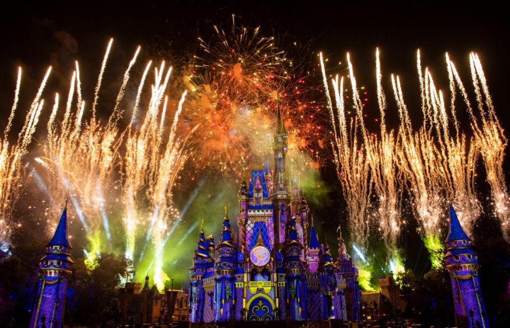 Disney World 50th Anniversary Disney Enchantment Fireworks Magic Kingdom