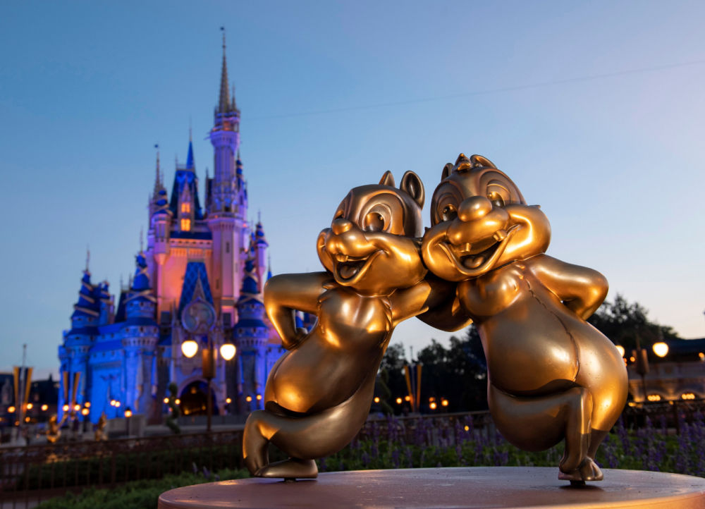 Disney World 50th Anniversary Fab50 Character Statues Chip and Dale